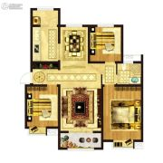 凤祥铭居3室1厅1卫128平方米户型图