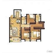 中海世纪公馆3室2厅2卫112平方米户型图