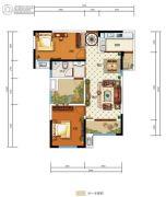 中国电建・湘熙水郡3室2厅1卫91平方米户型图
