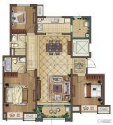 中海凤凰熙岸3室2厅2卫126平方米户型图