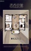福港・书香壹号3室2厅1卫91--98平方米户型图