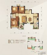 瑞松・中心城3室0厅2卫0平方米户型图