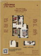 漫步托斯卡纳2室2厅1卫90平方米户型图