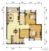 东山雅居2室2厅0卫101--102平方米户型图