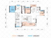 云鼎・天阙3室2厅3卫126--147平方米户型图