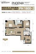 金陵凤栖园3室2厅2卫180平方米户型图