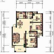 新鸿基・珑汇3室2厅2卫116平方米户型图