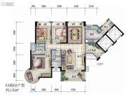 大信君汇湾3室2厅2卫135平方米户型图