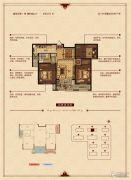 华锦锦园3室2厅1卫105平方米户型图