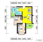 恒大御景半岛2室2厅1卫87平方米户型图