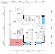 朗逸轩3室2厅2卫92平方米户型图