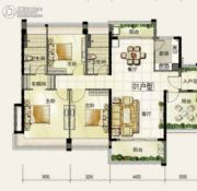 颐安・��景湾3室2厅2卫143平方米户型图