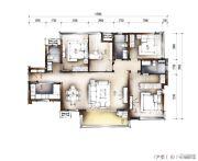 南宁万科城4室2厅3卫140平方米户型图