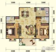 芭提雅火山岩温泉小镇2室2厅1卫108平方米户型图