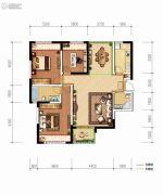德杰・德裕天下3室2厅2卫108平方米户型图