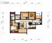 成都乐天圣苑3室2厅2卫88平方米户型图
