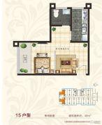 国宾府1室1厅1卫46平方米户型图