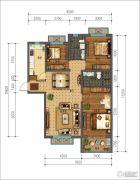同美生活区3室2厅2卫127--129平方米户型图