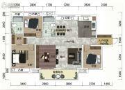 绿地越秀海�h4室2厅2卫118平方米户型图