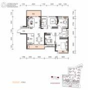 长房云时代4室2厅2卫129--130平方米户型图