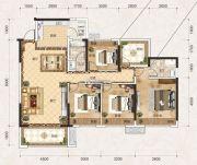 联发君悦壹号4室2厅2卫130平方米户型图