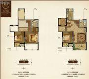 花溪公馆3室2厅2卫143平方米户型图