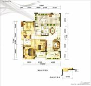 满京华喜悦里4室2厅2卫120平方米户型图