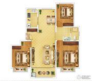 钓鱼一�院3室2厅1卫105平方米户型图