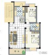 东湖锦绣2室2厅1卫97--98平方米户型图