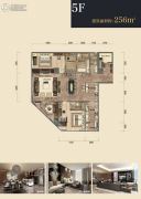 杭州印2室2厅3卫256平方米户型图
