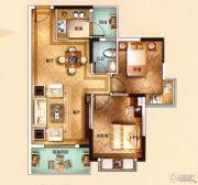 海泉湾2室2厅1卫77平方米户型图