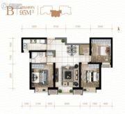 新城吾悦广场3室2厅1卫0平方米户型图