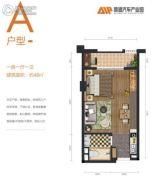 顺德汽车产业园1室1厅1卫48平方米户型图