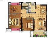 福安中梁壹号院3室2厅1卫90平方米户型图