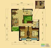 弘阳广场3室2厅1卫87平方米户型图