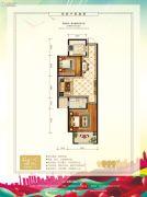 中泽纯境2室2厅1卫0平方米户型图