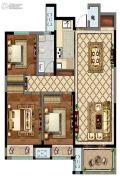 康桥香溪郡3室2厅1卫112平方米户型图