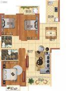 华地东城3室2厅2卫125--127平方米户型图
