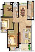 万业紫辰苑3室2厅1卫99平方米户型图