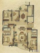 广洋海尚国际4室2厅3卫186平方米户型图
