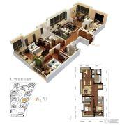 龙洲伊都3室2厅2卫131平方米户型图