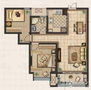 九洲新世界2室2厅1卫90平方米户型图