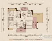 京华假日湾2室2厅1卫91平方米户型图