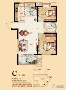 合肥铜冠花园2室2厅1卫85平方米户型图