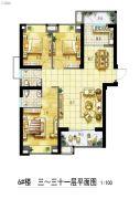 永鸿商业广场3室2厅2卫0平方米户型图