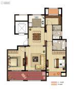 公馆18953室2厅2卫115平方米户型图