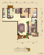 金梦海湾1号3室2厅2卫114平方米户型图