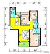 恒大御景半岛3室2厅2卫136平方米户型图