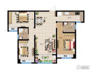 远洋・新天地3室2厅1卫125平方米户型图