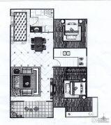 印象城・牛津花园2室2厅1卫74平方米户型图